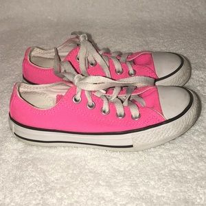 Hot Pink Unisex Converse Size Youth 11